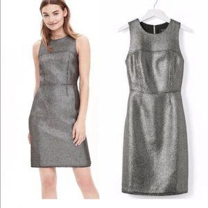 Banana Republic Metallic Tweed Dress